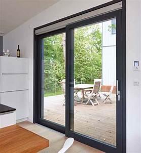 Baie Coulissante Bois : baie vitr e coulissante bois sur mesure millet ~ Premium-room.com Idées de Décoration