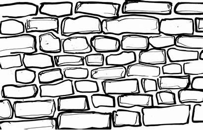 Brick Wall Coloring Drawing Printable Drawings Bricks