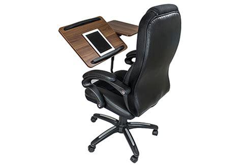 sharper image computer desk office chair with integrated laptop desk sharper image