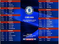 Chelsea Fixtures 20132014 & upcoming matches of Premier