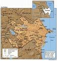 Azerbaijan Terrain Map