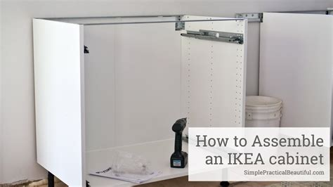 ikea kitchen cabinet assembly how to assemble an ikea sektion base cabinet 4455