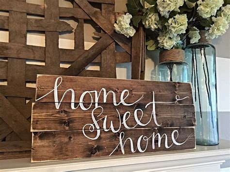Home Decor Hand Painted Wood Sign Rustic Decor