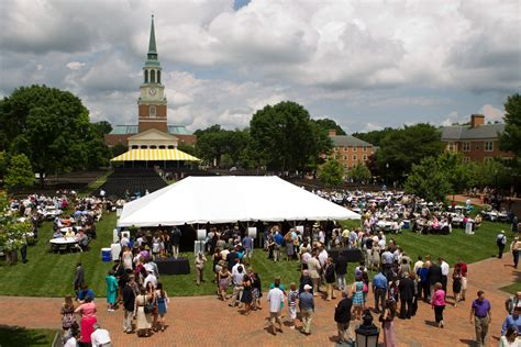 preferred dining options commencement wake forest university