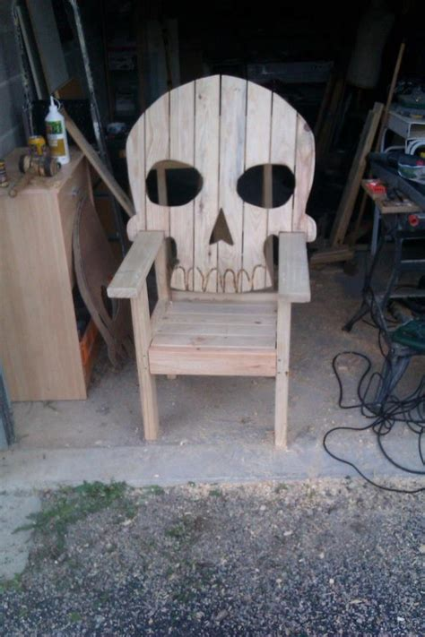 skull adirondack chair plans skeleton chair jardin