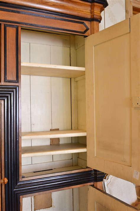 kitchen cabinets pine 19th century cabinet with black lacquer trim circa 3170