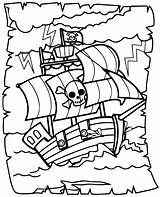 Pirate Boat Coloring Pirates Jolly Roger Flag Pages sketch template