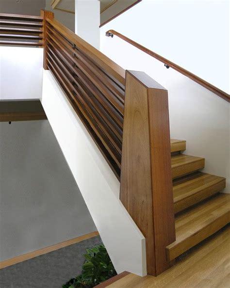 contemporary wood stair railing beautiful chunky wood