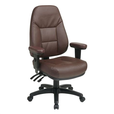 ergonomic burgundy eco leather office chair ec4300 ec4