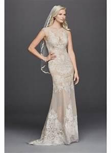 stretch mesh sheath wedding dress with cap sleeves With stretch wedding dress
