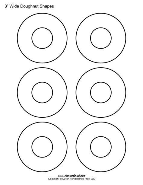 donut template donut printables craftbnb