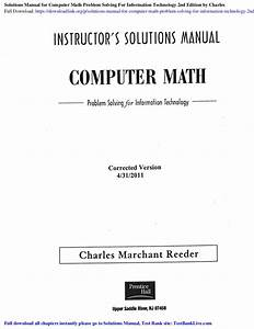 Solutions Manual For Computer Math Problem Solving For