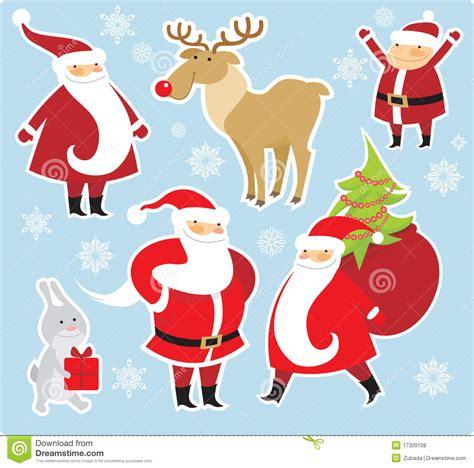 christmas characters stock vector illustration  animal