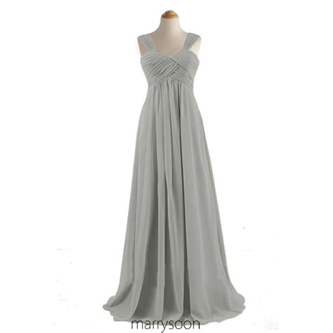 light grey bridesmaid dresses long light gray chiffon long bridesmaid dresses cap sleeves a