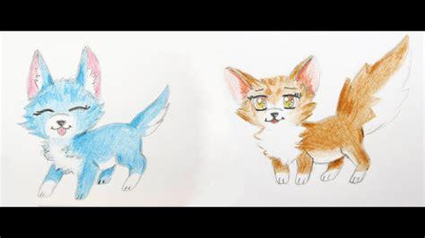 manga tiere zeichnen lernen  fuchs und hund manga