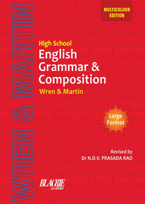 Best English Grammar Book For Primary School  Wren Martin S High School English Grammar