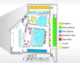wet republic pool floor plan map wet republic mgm grand