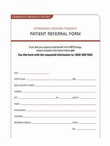 patient referral form template choice image template With referral document template