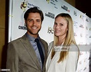 Cast member Sam Page and wife Cassidy Boesch pose during ...