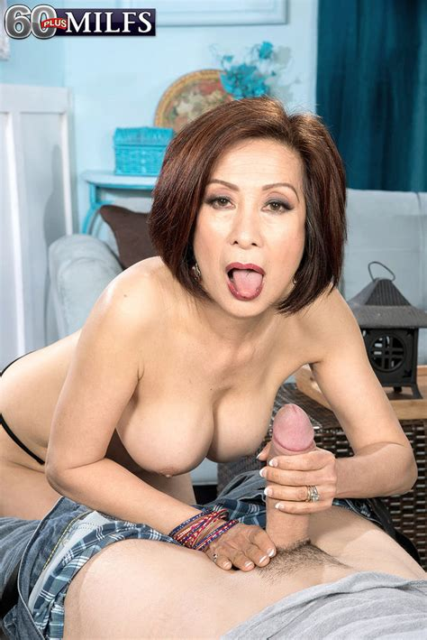 Hot Asian Granny Kim Anh Swallows A Big Fat Boner 1 Of 2