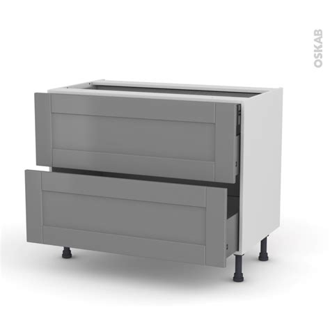 meuble cuisine casserolier meuble de cuisine casserolier filipen gris 2 tiroirs 1