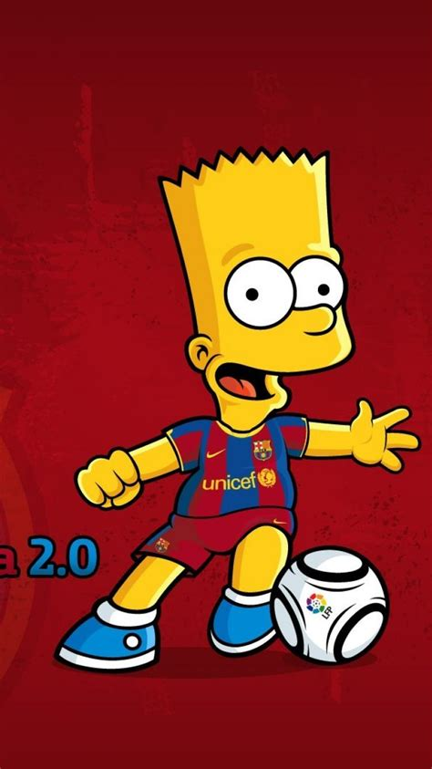 bart simpson fc barcelona  simpsons blaugrana cartoons