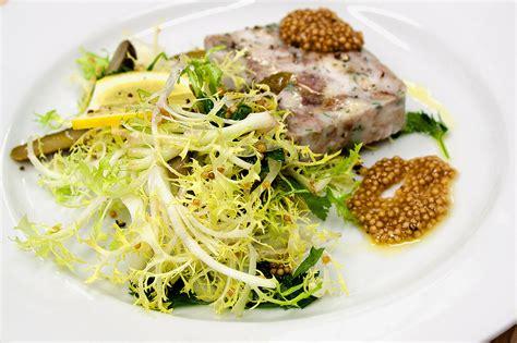 frisee salad  bloomed mustard seed  mustard oil