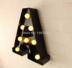 aliexpresscom buy 9quot metal letters light led alphabet With where to buy wall letters