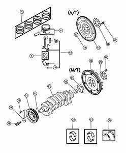 Dodge Stratus Rod  Connecting  Crankshaft  Piston  Plate