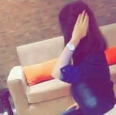 image  cute girl hidden face profile picture
