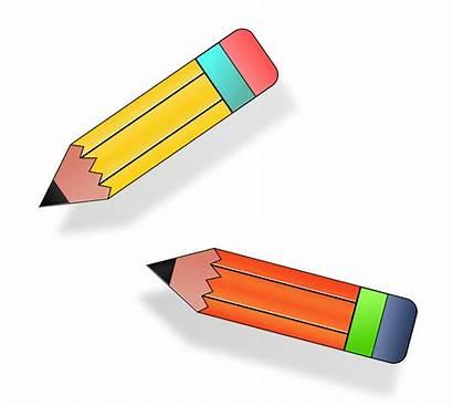 Pencil Pencils Clipart Clip Short Cliparts Svg