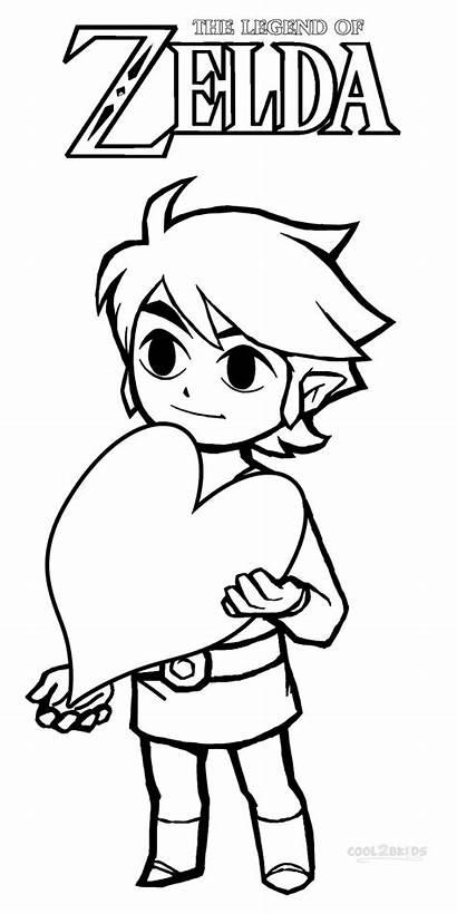 Zelda Coloring Pages Legend Link Printable Coloriage