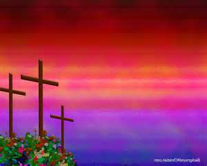 Crosses with Flower Background
