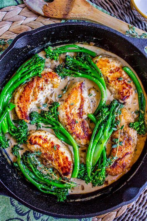 chicken broccolini pan seared chicken broccolini in creamy mustard sauce the food charlatan