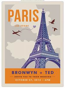 7 unexpected las vegas wedding invitations little vegas for Paris las vegas wedding invitations