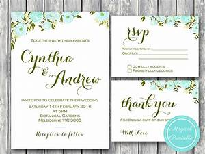 blue flower wedding invitation rsvp and thank you cards With wedding invitations rsvp and thank you cards