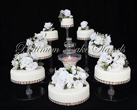 wedding cakes stands  tier cascade wedding cake stand