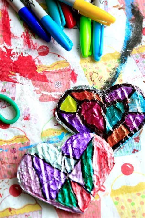 valentines art  sharpies  tin foil happy hooligans