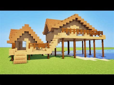 minecraft comment faire une maison de plage sur pilotis tuto