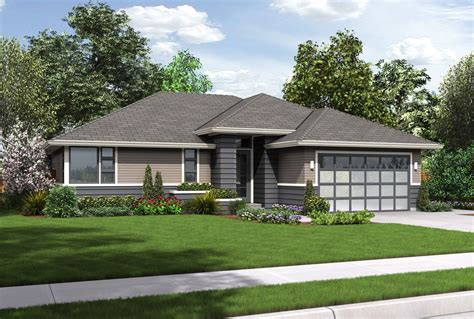 house plan es  modern ranch