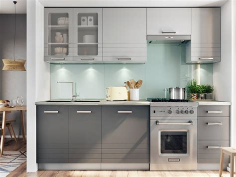 Grey Cupboards Kitchen by Free Standing Light Grey Kitchen Cabinets Cupboards Set 7