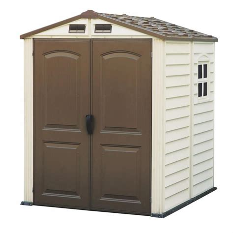 plastic sheds lowes duramax building products common 6 ft x 6 ft actual