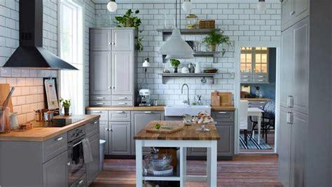 Ikea Küche Ideen In Grau Dekor Mit Massivholz Arbeitsplatte