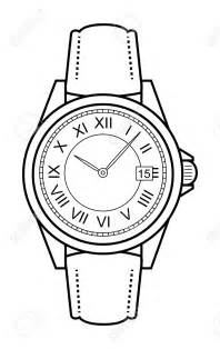 Black and white watch clipart - ClipartFest