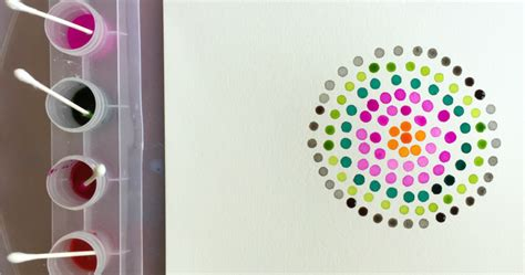 Pointillism Art For Kids With Qtips And Watercolors