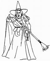 Wizard Oz Coloring Pages Drawing Line Printable sketch template