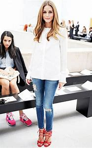 Olivia Palermo White Jeans Outfit