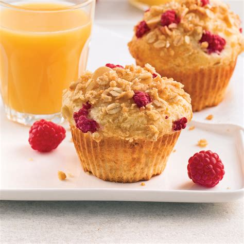 cuisine recettes pratiques muffins aux framboises et yogourt recettes cuisine et