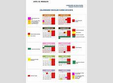 Calendario escolar Granada para el curso escolar 201819