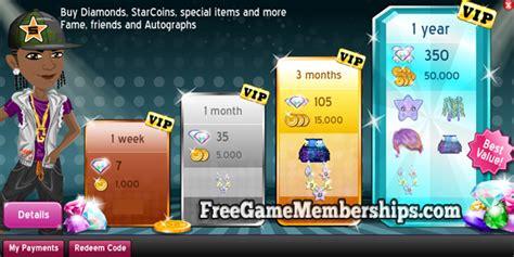 moviestarplanet vip membership codes